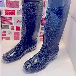NWOT TOMS Women Cabrilla Print Rain Boots Size: 11